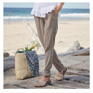 Embroidered Sundance Draw String Pants